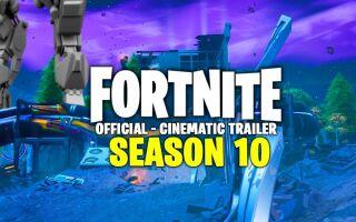 Для Fortnite вышел сюжетный CGI-ролик, посвящённый 10 сезону
