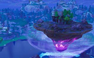 В Fortnite появился парящий остров и электроловушка
