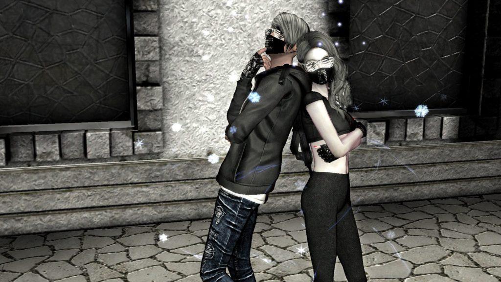 Девушка с парнем из браузерной игры