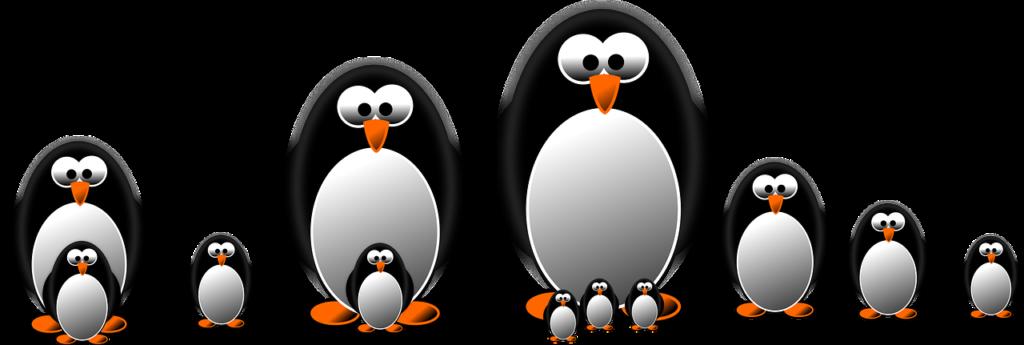 Семья пингвинов из одноимённой игры