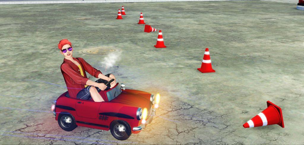 Парень на красной машине из игры 18