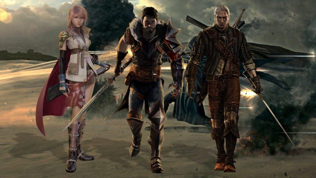 Три персонажа из новой ролевой игры